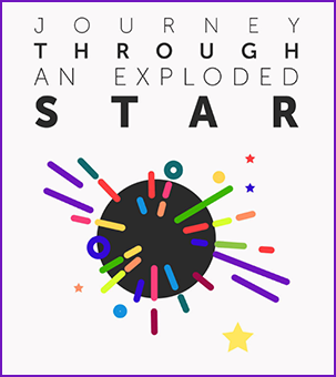 Journey Through an Exploded Star Logo