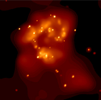 X-Ray image from Antennae Galaxy
