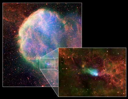 X-ray, Radio, Infrared Image of NGC 4696