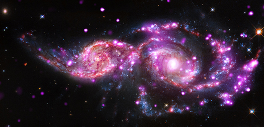 Strålende galaksekollision
