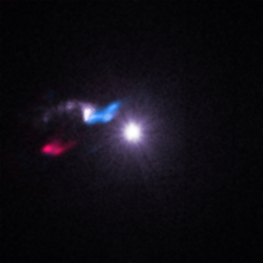 Chandra's high-resolution X-ray vision revealed a cloud of gas and dust that is a separated by a very small distance from Cygnus X-3.  This gas cloud, dubbed the